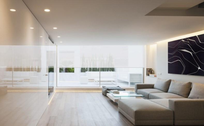 good lighting reception area
