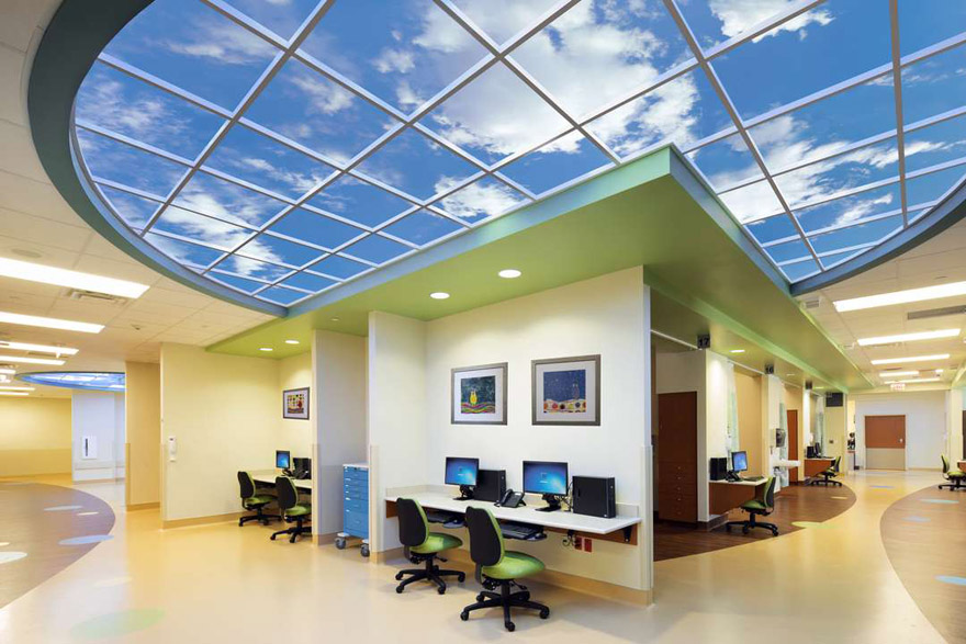 Virtual skylight in office